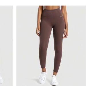 Gymshark Whitney Rib Waist Legging Chocolate